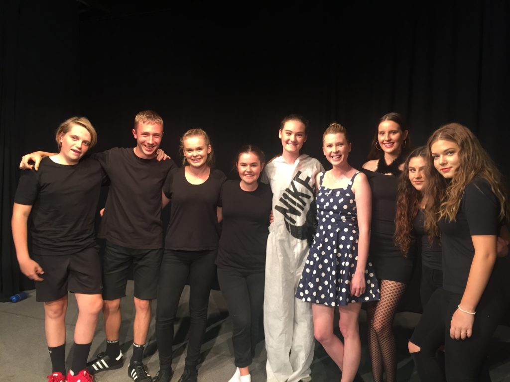 Actor Emma Booth with some of our Year 10 Drama Performers