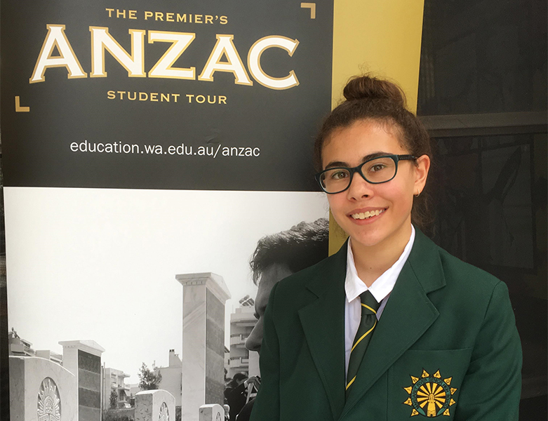 Congratulations to Emily for selection on the 2019 Premier's ANZAC Tour