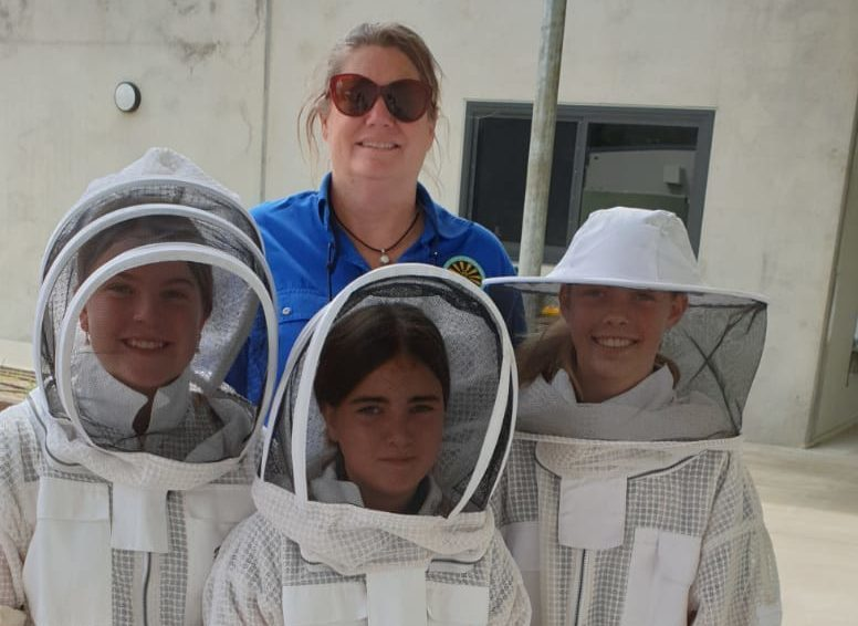 Students enjoy learning about bee keeping